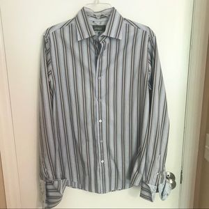 Ted Baker Long Sleeve Striped Button Down Shirt